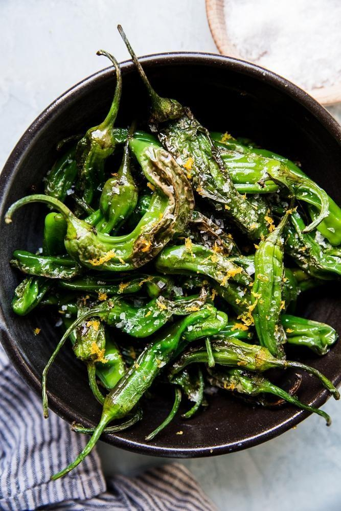 """<p>If you have just 10 minutes to spare, you can make these blistered shishito peppers in a skillet. </p><p><strong><em>Get the recipe at <a href=""""https://themodernproper.com/shishito-peppers"""" rel=""""nofollow noopener"""" target=""""_blank"""" data-ylk=""""slk:The Modern Proper"""" class=""""link rapid-noclick-resp"""">The Modern Proper</a>.</em></strong></p>"""