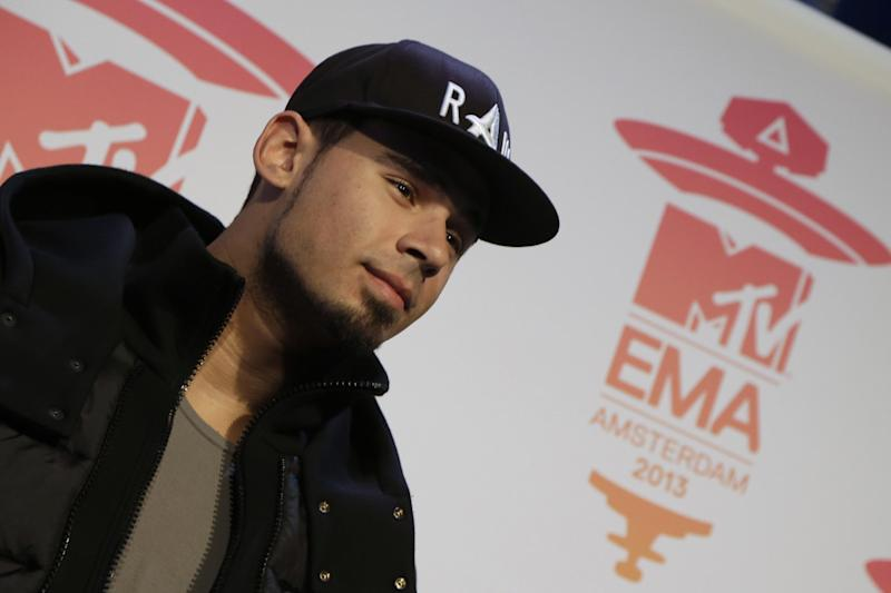 DJ Afrojack poses for photographers at the press conference for the European MTV Awards 2013 in Amsterdam, Saturday, Nov. 9, 2013. (AP Photo/Peter Dejong)
