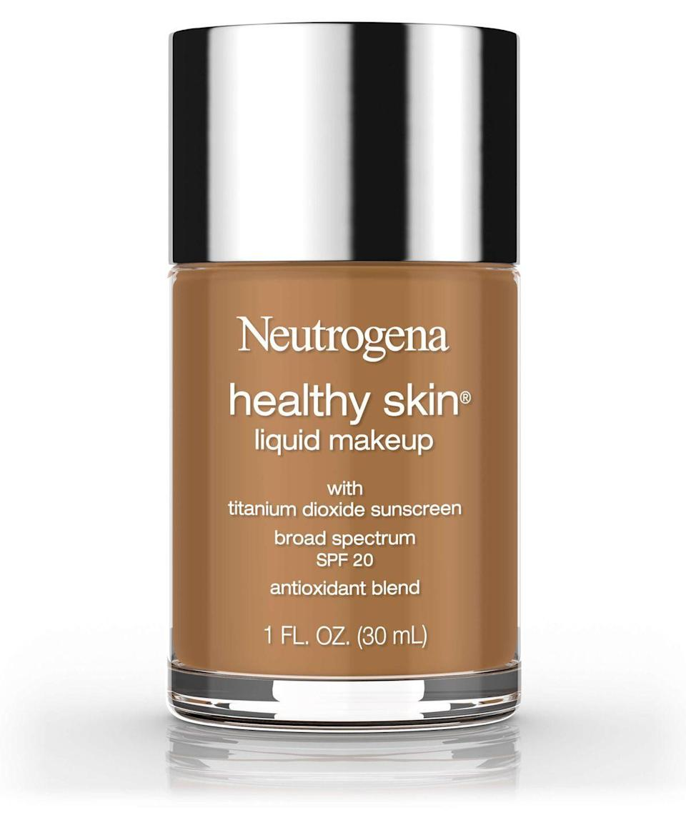 "<p>If summer is wreaking havoc on your skin, this lightweight foundation will cover breakouts, without causing even more to pop up.</p><strong>Neutrogena</strong>, $12.77, available at <a href=""https://jet.com/product/Neutrogena-Healthy-Skin-Liquid-Makeup-Foundation-Broad-Spectrum-Spf-20-20-Natura/7cb25c083a544fc68c7312125b03757e?beaconId=d551a360-704a-415a-b5df-94237227f5cc%2F1%2Fx~7cb25c083a544fc68c7312125b03757e&origination=PLP"" rel=""nofollow noopener"" target=""_blank"" data-ylk=""slk:Jet"" class=""link rapid-noclick-resp"">Jet</a>"