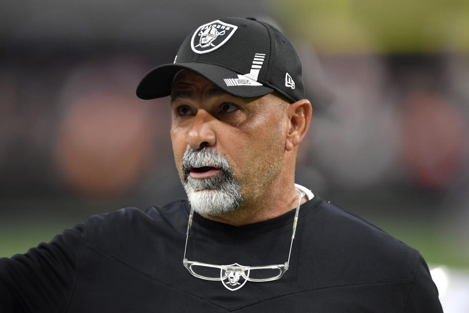 Raiders assistant head coach/special teams coordinator Rich Bisaccia is replacing Jon Gruden as interim head coach after Gruden resigned. (Photo by Chris Unger/Getty Images)