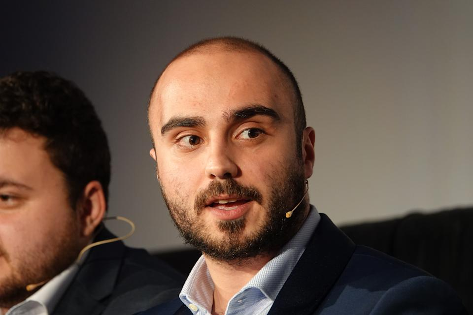 """28 January 2020, Berlin: The German Dota 2 star Kuro """"KuroKy"""" Salehi Takhasomi of Team Nigma at the premiere of the documentary film """"True Sight"""" in the Babylon Kino Berlin with the reigning Dota 2 world champions OG and the runners-up, who now play under the name of Nigma. Photo: Benedikt Wenck/dpa (Photo by Benedikt Wenck/picture alliance via Getty Images)"""