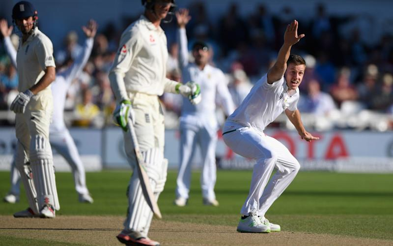South Africa bowler Morne Morkel appeals for the wicket of Alastair Cook which is overturned on review during day three of the 2nd Investec Test match between England and South Africa at Trent Bridge - Credit: Getty Images