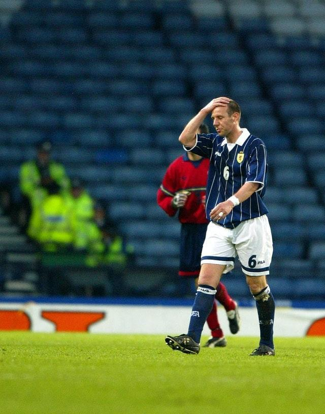 Craig Burley's goal in a 1-1 draw with Norway at World Cup 1998 was the last time Scotland scored at a major tournament