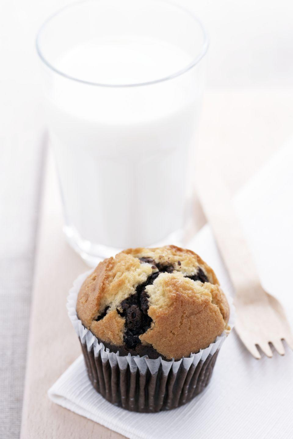 """<p>Just-picked corn, plump blueberries, and a dusting of raw sugar kick this basic corn muffin up a notch. </p><p><strong><a href=""""https://www.countryliving.com/food-drinks/recipes/a2905/blueberry-corn-muffins-recipe/"""" rel=""""nofollow noopener"""" target=""""_blank"""" data-ylk=""""slk:Get the recipe"""" class=""""link rapid-noclick-resp"""">Get the recipe</a>.</strong><br></p>"""