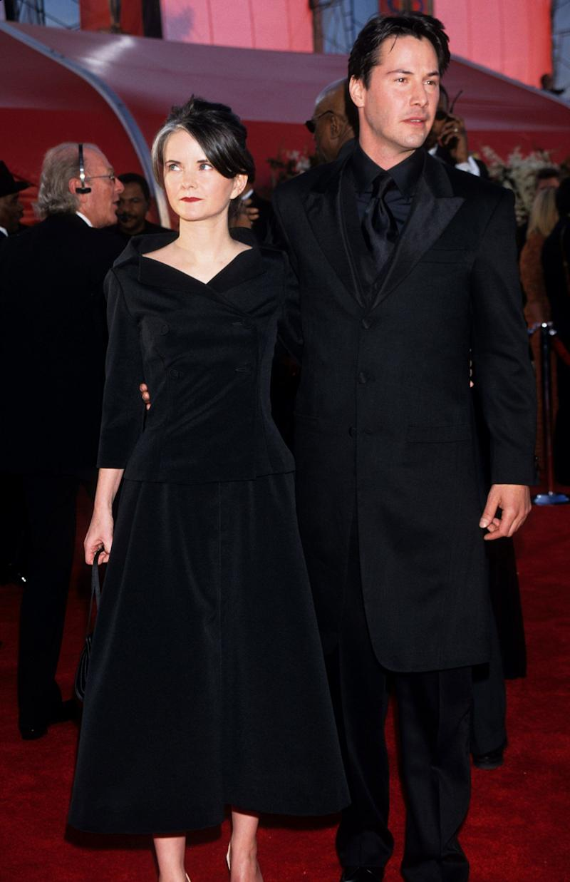 Reeves and his guest arrive at the 72nd Annual Academy Awards in Los Angeles.