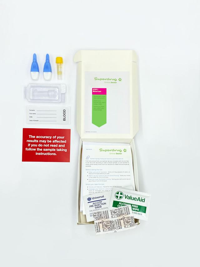 Superdrug has launched an at-home blood sampling kit for coronavirus antibodies. (Superdrug)