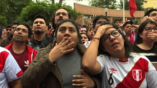 Peru fans remain positive about their team's future despite a tough 1-0 loss to France that eliminated the team from the World Cup.