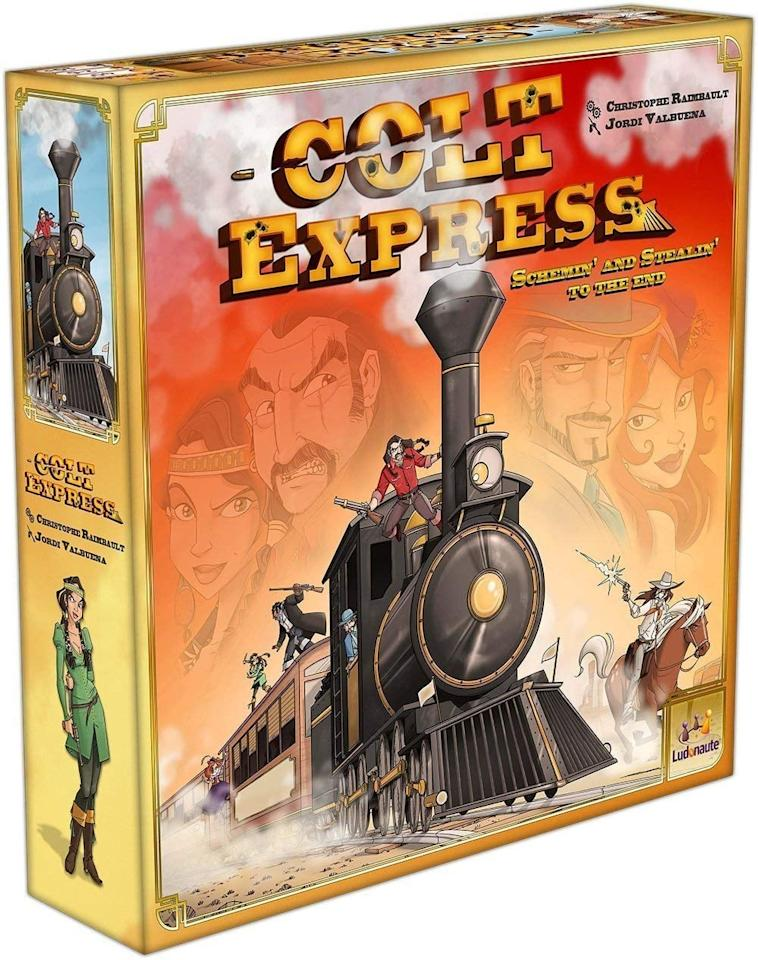 "<p>Two to six players can play this fun 3D game where you are bandits robbing a train - shooting and stealing your way to the end. I love the story element to it!</p> <p><strong>Buy:</strong> <a href=""https://www.popsugar.com/buy/Colt-Express-86007?p_name=Colt%20Express&retailer=amazon.com&pid=86007&price=30&evar1=savvy%3Auk&evar9=43688337&evar98=https%3A%2F%2Fwww.popsugar.com%2Fsmart-living%2Fphoto-gallery%2F43688337%2Fimage%2F43688396%2FColt-Express&list1=wellness%2Cfriendship%2Chappiness%2Cboard%20games&prop13=api&pdata=1"" rel=""nofollow"" data-shoppable-link=""1"" target=""_blank"" class=""ga-track"" data-ga-category=""Related"" data-ga-label=""https://www.amazon.com/Asmodee-COLT01-Colt-Express-Board/dp/B00OZTUQWE"" data-ga-action=""In-Line Links"">Colt Express</a> ($30)</p>"