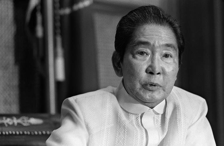 Then-Philippine President Ferdinand Marcos, pictured in 1985, died in exile in 1989