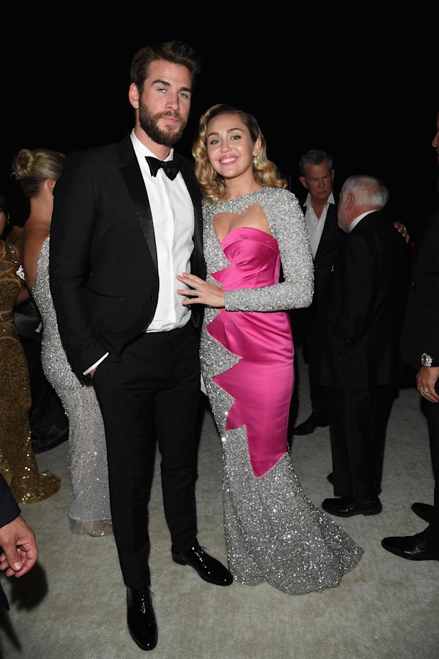 <p>Miley and Liam turn up the charm.</p>