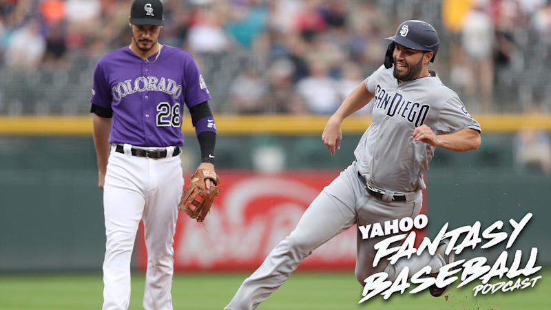 The Colorado Rockies and San Diego Padres put up record-breaking numbers at Coors Field last weekend. Scott Pianowski and Michael Beller discuss these stats and what it mean for fantasy owners on the latest Yahoo Fantasy Baseball Podcast. (Photo by Matthew Stockman/Getty Images)