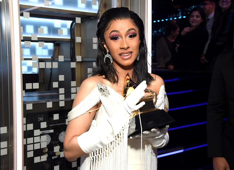 "Cardi B Is ""Sharing"" Her 2019 Grammy With Mac Miller"