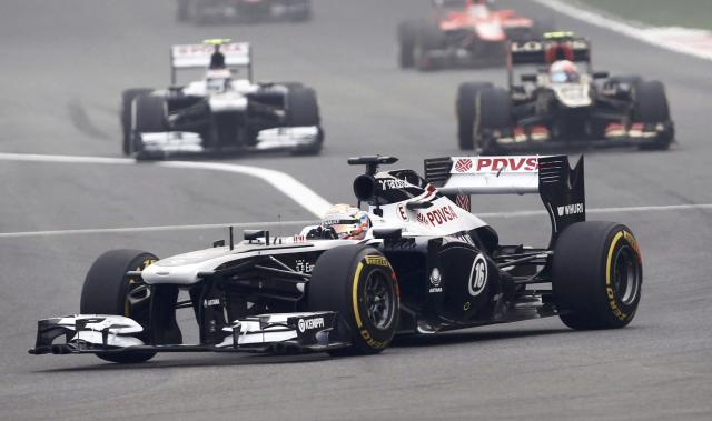 Williams Formula One driver Pastor Maldonado of Venezuela drives during the Indian F1 Grand Prix at the Buddh International Circuit in Greater Noida, on the outskirts of New Delhi, October 27, 2013. REUTERS/Adnan Abidi (INDIA - Tags: SPORT MOTORSPORT F1)