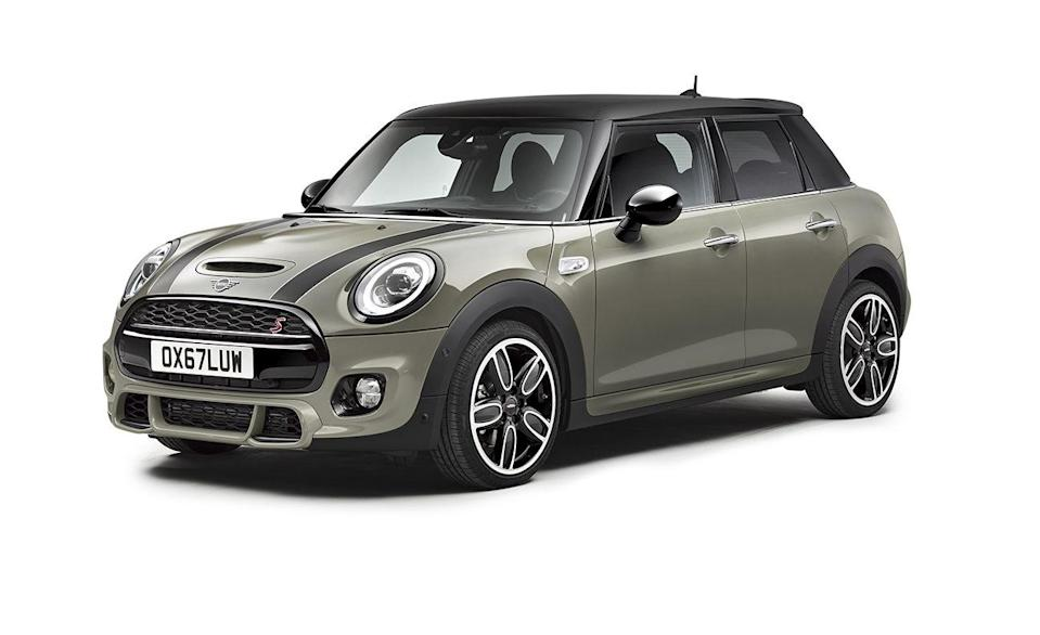 <p>The number of Mini models with manual transmissions is dwindling, but the British brand owned by BMW still offers three pedals in the Cooper and more powerful Cooper S versions of its Hardtop and Clubman. A six-speed stick is standard, while a dual clutch automatic is also available. This includes the hotter John Cooper Works versions of the Hardtop, however, the new 301-hp JCW GP is automatic only. That also goes for all-wheel drive versions of the Clubman.</p>