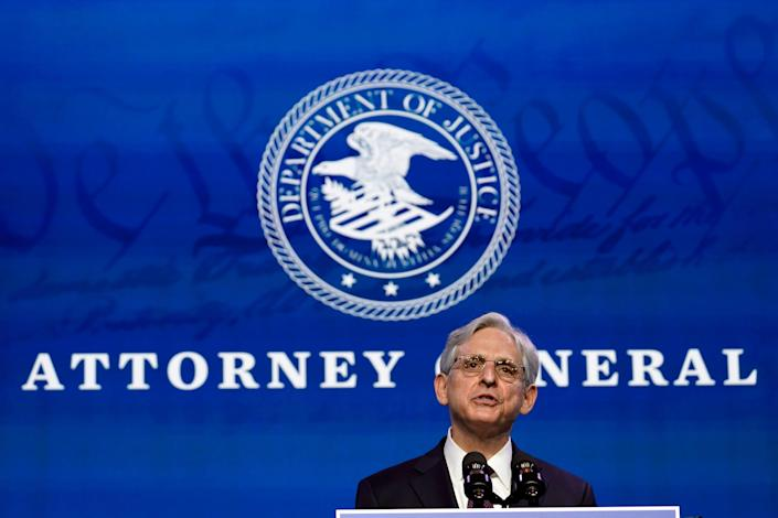 "Attorney general nominee Merrick Garland says he looks forward to a ""homecoming"" at the Justice Department."