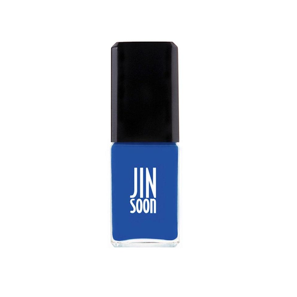 "There's just something so happy about looking down and seeing a cheery royal blue on your nails. The bottle here looks a little more denim-y, but on this is a rich, true primary blue that sparks instant joy. <em>—L.S.</em> $18, JINsoon. <a href=""https://jinsoon.com/cool-blue/"" rel=""nofollow noopener"" target=""_blank"" data-ylk=""slk:Get it now!"" class=""link rapid-noclick-resp"">Get it now!</a>"