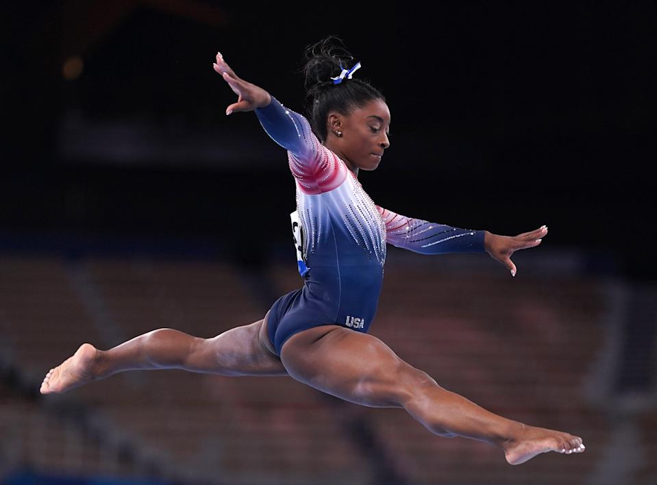 Simone Biles won her seventh Olympic medal (Mike Egerton/PA) (PA Wire)