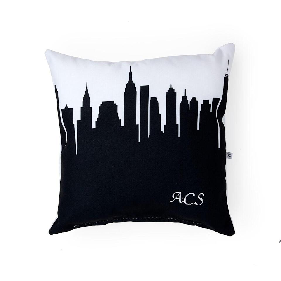 <p>This <span>Personalized City Skyline Pillow</span> ($45) is cool in an unexpected way.</p>