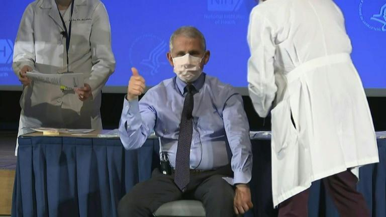 Top US scientist Anthony Fauci receives Moderna Covid-19 vaccine