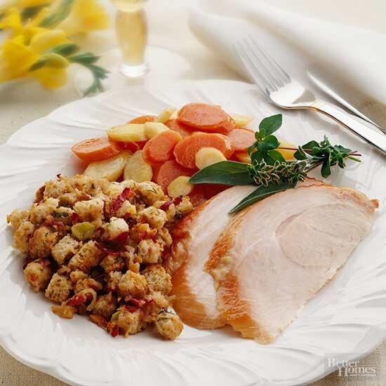Smoke a whole turkey and serve it alongside an apple stuffing for this year's Thanksgiving dinner.