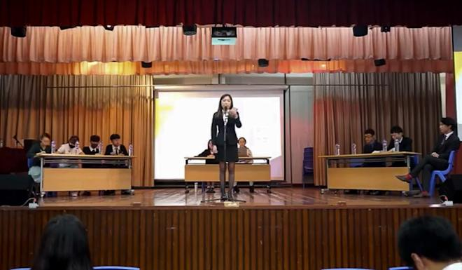 A screen grab of a promotional video for the Hong Kong Secondary Schools Debate Competition. Photo: Handout