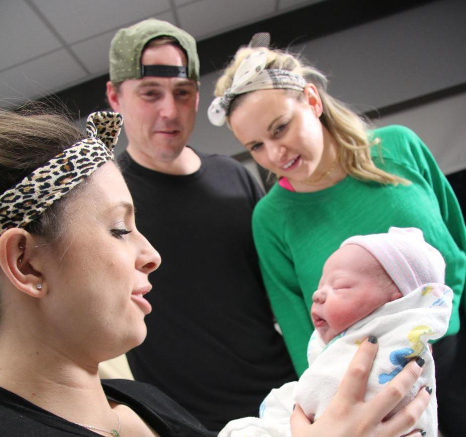 Baby Richard born to surrogate Kasia Birdwell and new mother Erica Gray.