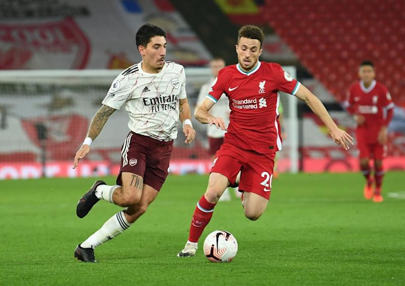 Diogo Jota is hoping for his first Liverpool start (Arsenal FC via Getty Images)