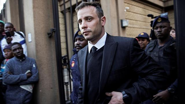 Olympian Oscar Pistorius, in jail for murdering his girlfriend, was bruised in an altercation with another inmate over telephone use, a South African prison spokesman confirmed Tuesday.