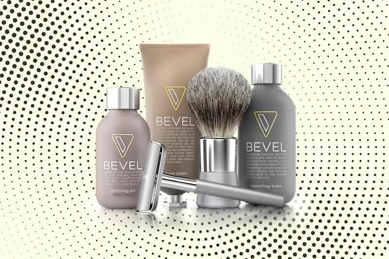 Bevel starter shave kit. (Photos: Bevel; Getty Images; Art: Casey Hollister for Yahoo Lifestyle)