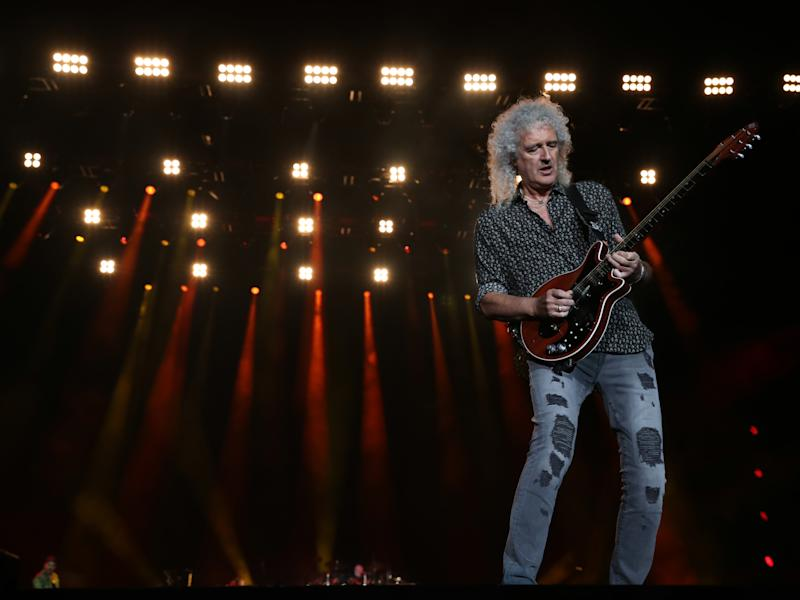 May on stage with Queen in February 2020 (Getty Images)