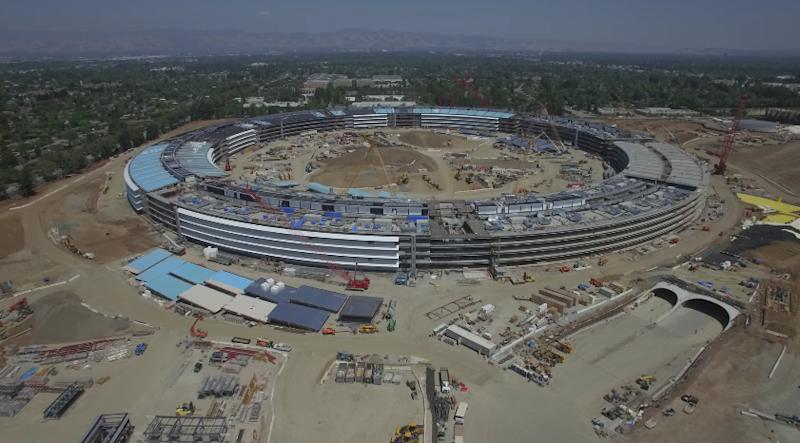 Apples Spaceship Shaped Campus 2 Headquarters Is Far From Being Finished But An Amazing 4K Video Captured With A Drone Shows The Impressive Progress Of
