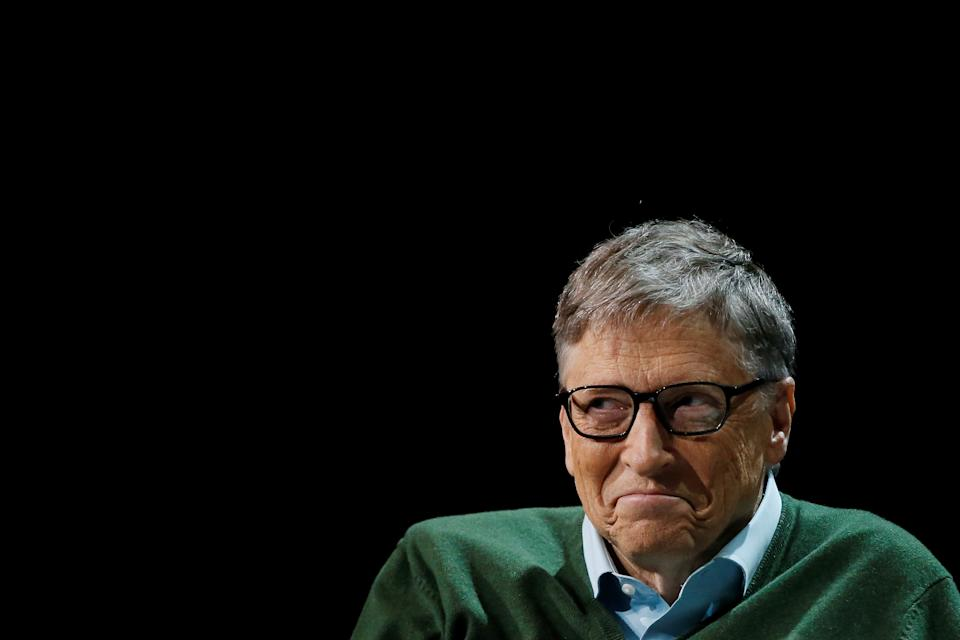 Bill Gates is seen before speaking with Warren Buffett (not pictured), chairman and CEO of Berkshire Hathaway, at Columbia University in New York, U.S., January 27, 2017. REUTERS/Shannon Stapleton