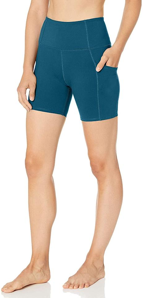 """<p>We love shorts with pockets, and that's why these <product href=""""https://www.amazon.com/Core-10-Womens-Comfort-Pockets/dp/B07PFRZVHN/ref=sr_1_9?crid=PHUHUB487CLQ&amp;dchild=1&amp;keywords=core+10+biker+shorts+for+women&amp;qid=1601421549&amp;sprefix=core+10%2Caps%2C214&amp;sr=8-9"""" target=""""_blank"""" class=""""ga-track"""" data-ga-category=""""internal click"""" data-ga-label=""""https://www.amazon.com/Core-10-Womens-Comfort-Pockets/dp/B07PFRZVHN/ref=sr_1_9?crid=PHUHUB487CLQ&amp;dchild=1&amp;keywords=core+10+biker+shorts+for+women&amp;qid=1601421549&amp;sprefix=core+10%2Caps%2C214&amp;sr=8-9"""" data-ga-action=""""body text link"""">Core 10 All Day Comfort High Waist Yoga Shorts</product> ($23) are essentials.</p>"""
