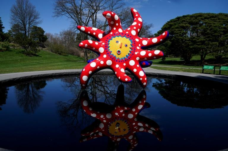 "The Yayoi Kusama exhibit, which includes works such as ""I Want to Fly to the Universe,"" was delayed by a year because of the pandemic"