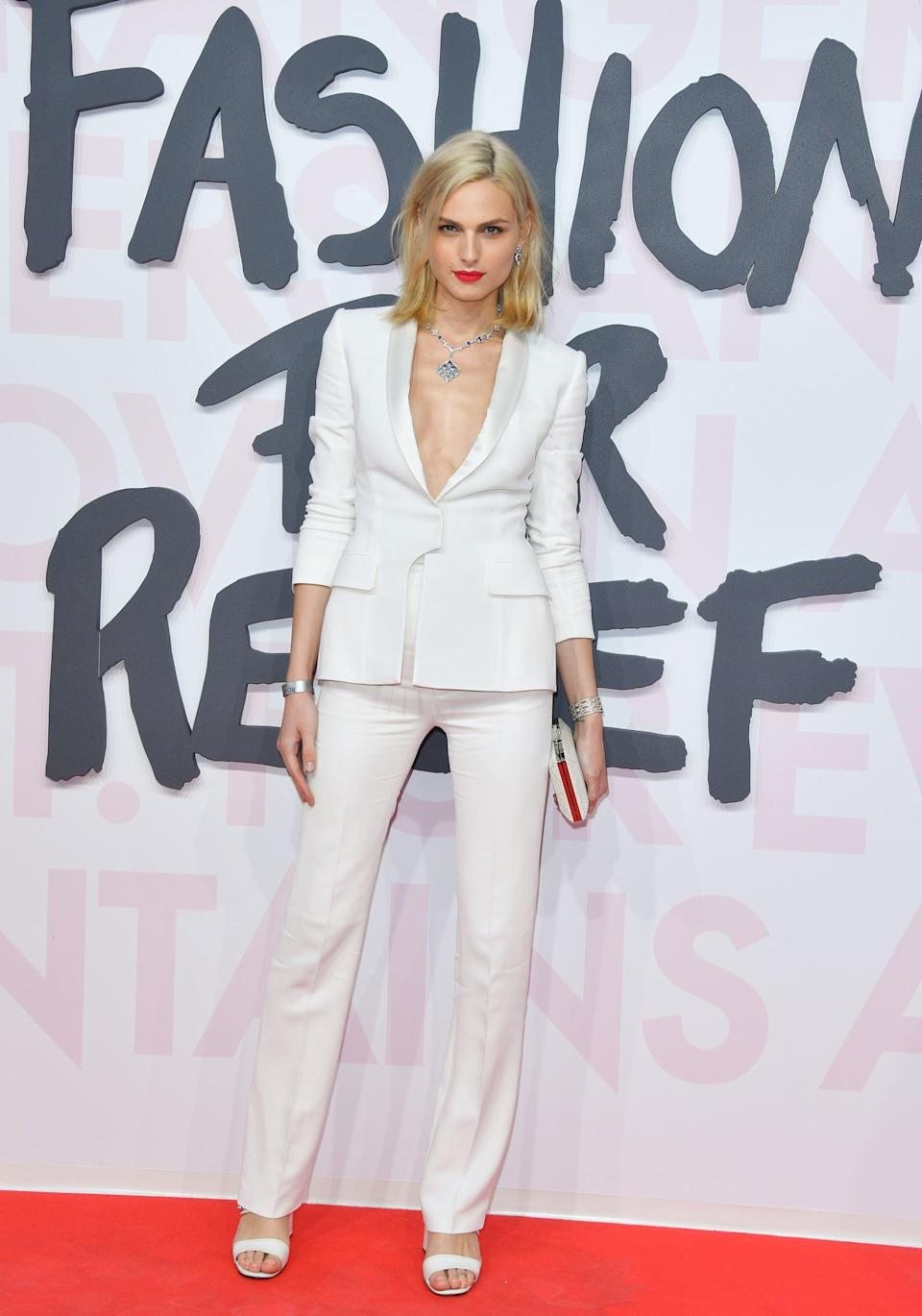 """<p>Andreja has been making waves in the fashion industry since landing an international campaign for Gaultier before she transitioned. While Andreja used to model both men's and women's lines, <a href=""""https://www.popsugar.com/fashion/photo-gallery/35729612/image/35729725/Have-you-felt-pigeonholed-certain-roles-industry-because"""" class=""""link rapid-noclick-resp"""" rel=""""nofollow noopener"""" target=""""_blank"""" data-ylk=""""slk:she has since stated she will be modeling as a woman"""">she has since stated she will be modeling as a woman</a>. In 2018, she made her film debut in the movie <strong>The Girl in the Spider's Web</strong>.</p>"""