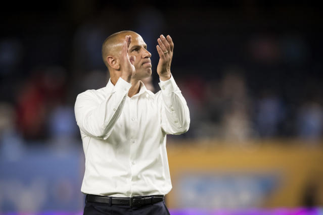 Chris Armas has detailed the challenges of taking over NYRB in the middle of the season. (Getty)