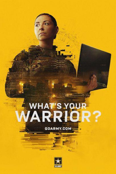 PHOTO: Captain Erika Alvarado, who serves on an Army Reserve Cyber Protection Team is seen in the Army's new recruiting campaign 'What's Your Warrior' (U.S. Army)