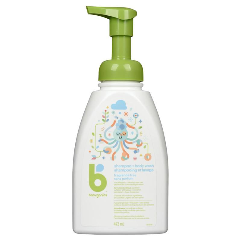 Babyganics Shampoo & Body Wash, Fragrance Free, 473ml