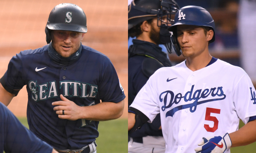 Kyle Seager of the Seattle Mariners (left) and Corey Seager of the Los Angeles Dodgers.