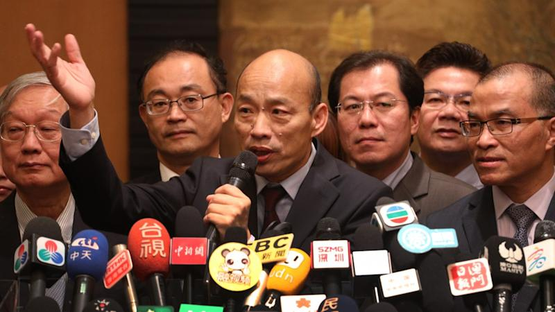 'Selling out my people? I'm only here to sell fruits': Beijing-friendly Taiwanese mayor Han Kuo-yu fires back at critics over rare visit