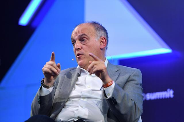 Javier Tebas, hasta ahora presidente de la LFP. Foto: Piaras Ó Mídheach/Sportsfile for Web Summit via Getty Images.