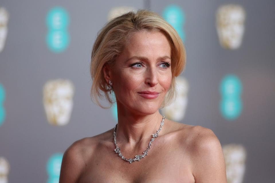 Gillian Anderson, pictured in 2020, has announced she's done with bras. (Photo: Lia Toby/Getty Images)