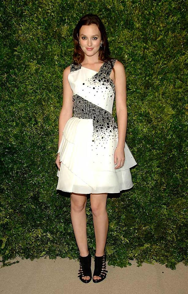 """""""Gossip Girl's"""" Leighton Meester didn't disappoint in an edgy Prabal Gurung dress, which she paired with funky Roger Vivier booties. Ben Gabbe/<a href=""""http://www.gettyimages.com/"""" target=""""new"""">GettyImages.com</a> - November 15, 2010"""
