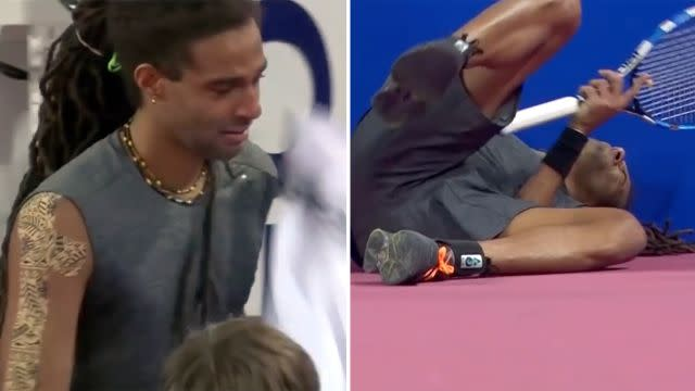 Brown couldn't hold back the tears. Image: Tennis TV