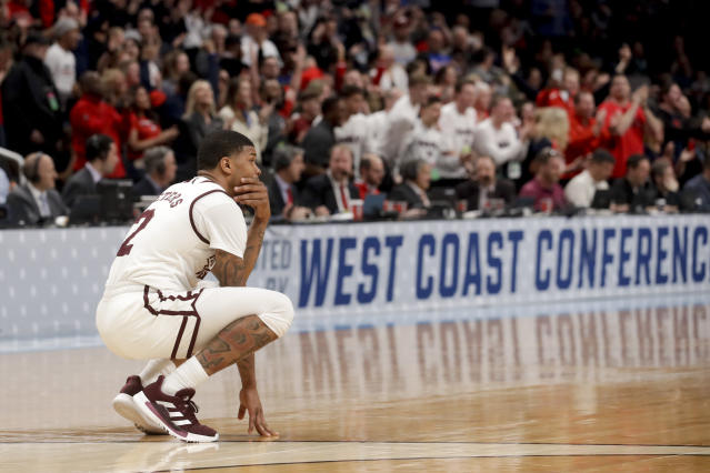 Mississippi State guard Lamar Peters watches during the second half of the team's game against Liberty in the first round of the NCAA men's college basketball tournament Friday, March 22, 2019, in San Jose, Calif. (AP Photo/Jeff Chiu)