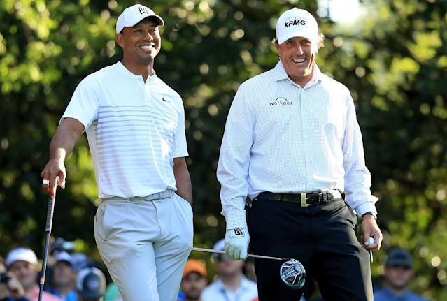 "<h1 class=""title"">The Masters - Preview Day 2</h1> <div class=""caption""> The biggest outward sign that Tiger and Phil's relationship had changed was when they played their first Masters practice round together in April. </div> <cite class=""credit"">Andrew Redington</cite>"