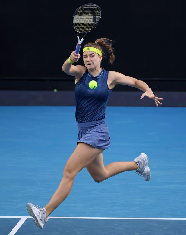 Karolina Muchova powered her way past Elise Mertens