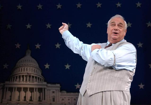 Actor Roy Hudd as Edward McKeever, during a photocall for the new production of 1950s comedy 'The Solid Gold Cadillac' at The Garrick Theatre on Charing Cross Road, central London. (Photo by Ian West - PA Images/PA Images via Getty Images)