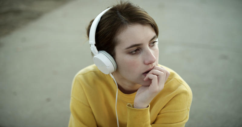 "This photo released by Tribeca Films shows Emma Roberts in a scene from the film, ""Palo Alto."" (AP Photo/Tribeca Films)"