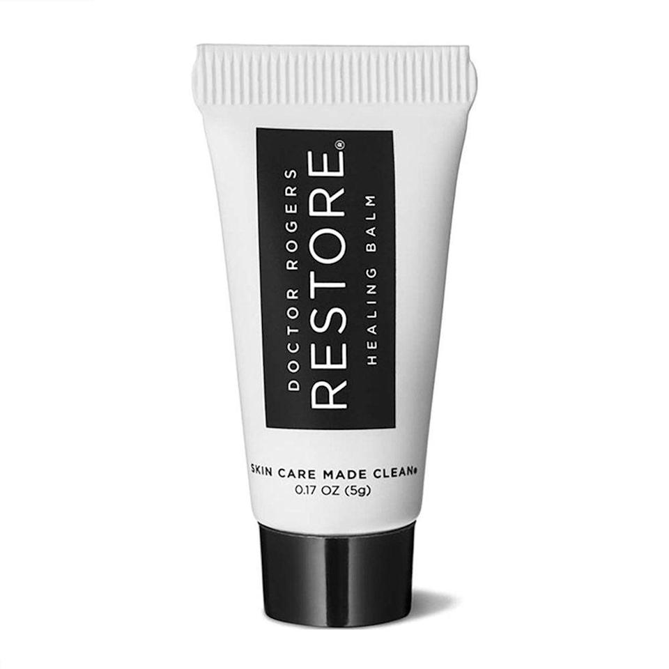 """<p><strong>Doctor Rogers Restore</strong></p><p>amazon.com</p><p><strong>$12.00</strong></p><p><a href=""""https://www.amazon.com/dp/B07YZMV7R2?tag=syn-yahoo-20&ascsubtag=%5Bartid%7C2089.g.32130255%5Bsrc%7Cyahoo-us"""" rel=""""nofollow noopener"""" target=""""_blank"""" data-ylk=""""slk:Shop Now"""" class=""""link rapid-noclick-resp"""">Shop Now</a></p><p>Between mask chafing and constantly washing hands, your recipient's skin is in serious need of some relief. This soothing balm has a thick consistency like petroleum jelly, but is fortified with plant-based ingredients for naturally nourishing healing.</p>"""